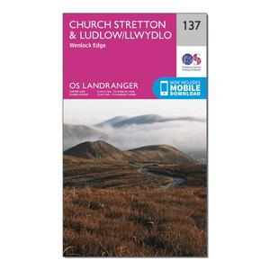 ORDNANCE SURVEY Landranger 137 Ludlow & Church Stretton, Wenlock Edge Map With Digital Version