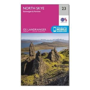 ORDNANCE SURVEY Landranger 23 North Skye, Dunvegan & Portree Map With Digital Version