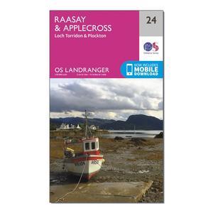 ORDNANCE SURVEY Landranger 24 Raasay & Applecross, Loch Torridon & Plockton Map With Digital Version