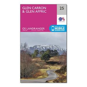 ORDNANCE SURVEY Landranger 25 Glen Carron & Glen Affric Map With Digital Version