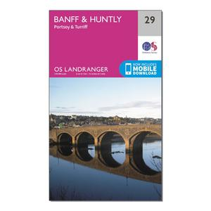 ORDNANCE SURVEY Landranger 29 Banff & Huntly, Portsoy & Turriff Map With Digital Version