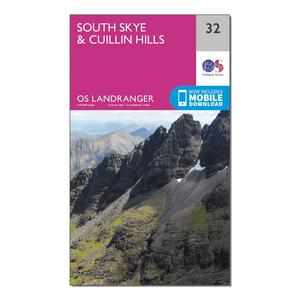 ORDNANCE SURVEY Landranger 32 South Skye & Cuillin Hills Map With Digital Version