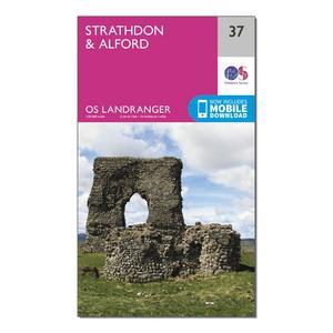 ORDNANCE SURVEY Landranger 37 Strathdon & Alford Map With Digital Version