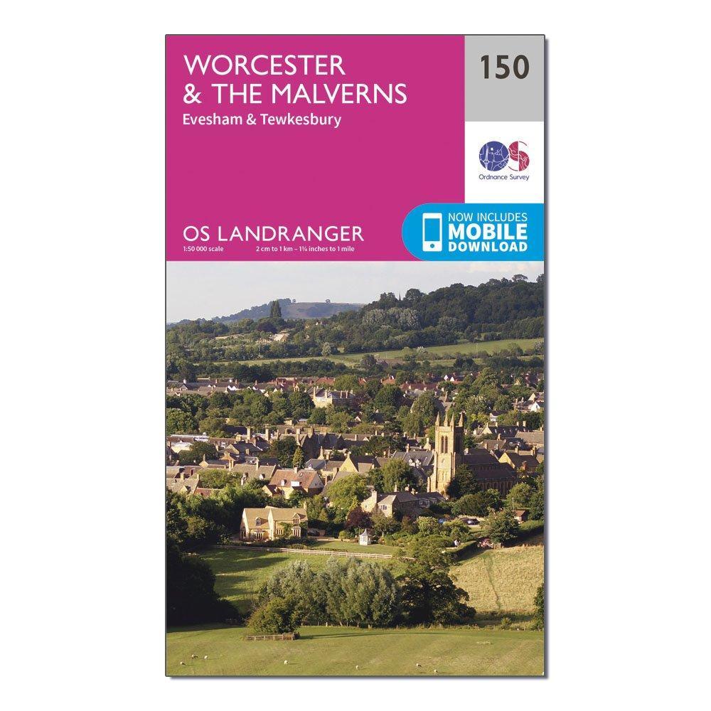 Ordnance Survey Landranger 150 WorcesterandThe Malverns  EveshamandTewkesbury Map With Digital Version - Pink/d  Pink/d
