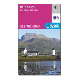ORDNANCE SURVEY Landranger 41 Ben Nevis, Fort William & Glen Coe Map With Digital Version
