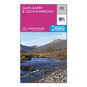 ORDNANCE SURVEY Landranger 42 Glen Garry & Loch Rannoch Map With Digital Version