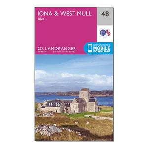 ORDNANCE SURVEY Landranger 48 Iona & West Mull, Ulva Map With Digital Version