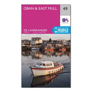 ORDNANCE SURVEY Landranger 49 Oban & East Mull Map With Digital Version
