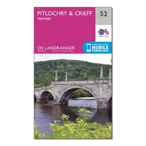 ORDNANCE SURVEY Landranger 52 Pitlochry & Crieff Map With Digital Version