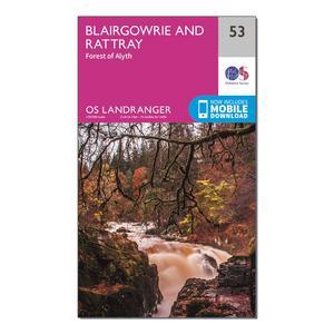 ORDNANCE SURVEY Landranger 53 Blairgowrie & Forest of Alyth Map With Digital Version