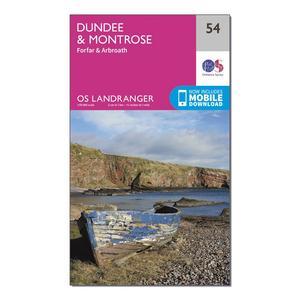 ORDNANCE SURVEY Landranger 54 Dundee & Montrose, Forfar & Arbroath Map With Digital Version