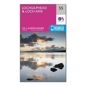 ORDNANCE SURVEY Landranger 55 Lochgilphead & Loch Awe Map With Digital Version