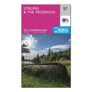 ORDNANCE SURVEY Landranger 57 Stirling & The Trossachs Map With Digital Version