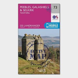 ORDNANCE SURVEY Landranger Active 73 Peebles, Galashiels & Selkirk, Tweed Valley Map With Digital Version