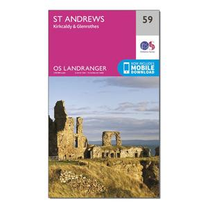 ORDNANCE SURVEY Landranger 59 St Andrews, Kirkcaldy & Glenrothes Map With Digital Version