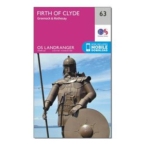 ORDNANCE SURVEY Landranger 63 Firth of Clyde, Greenock & Rothesay Map With Digital Version