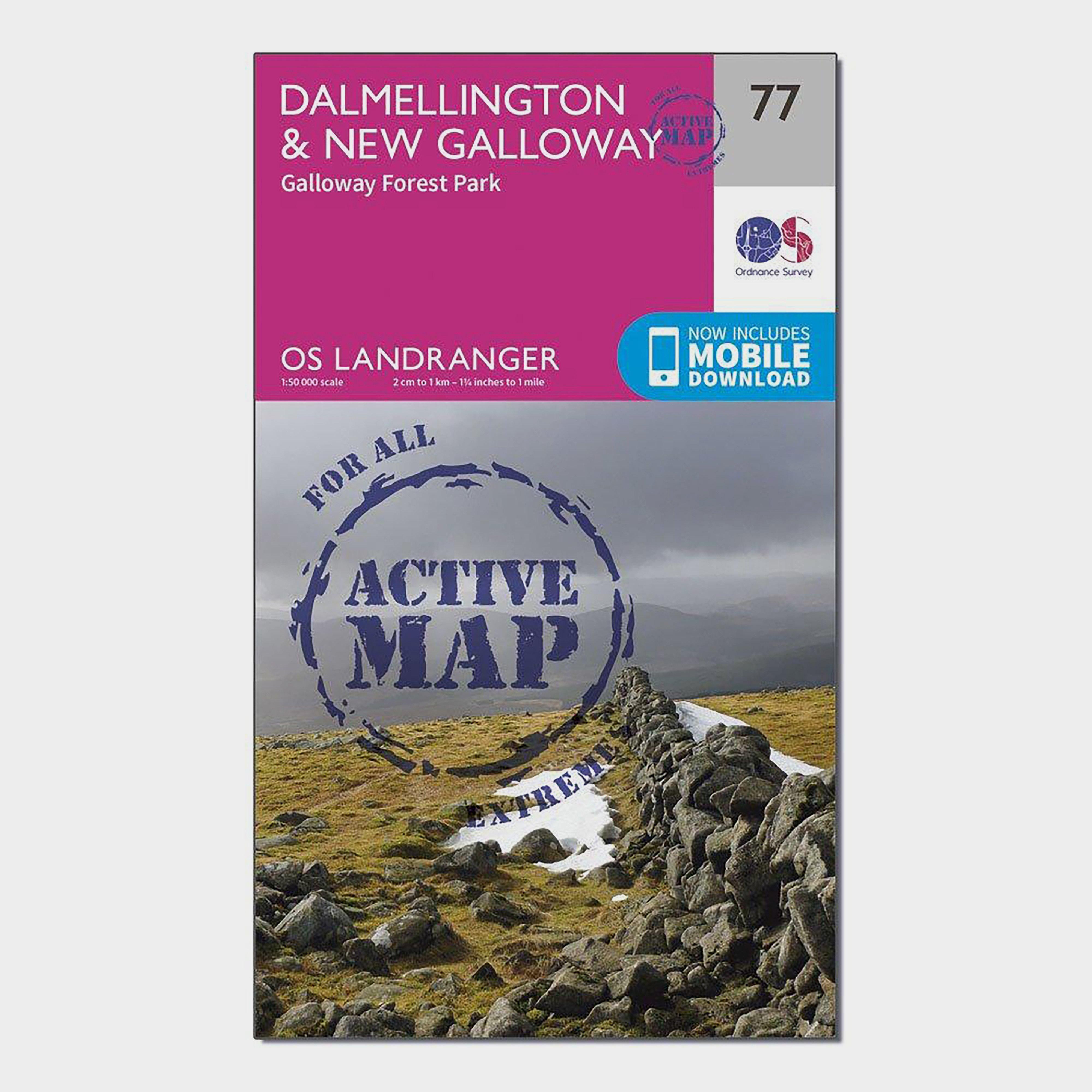 Ordnance Survey Landranger Active 77 DalmellingtonandNew Galloway  Galloway Forest Park Map With Digital Version - Pink/d  Pink/d