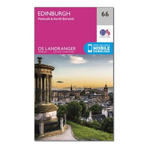 ORDNANCE SURVEY Landranger 66 Edinburgh, Penicuik & North Berwick Map With Digital Version