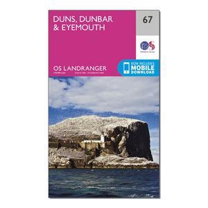 ORDNANCE SURVEY Landranger 67 Duns, Dunbar & Eyemouth Map With Digital Version