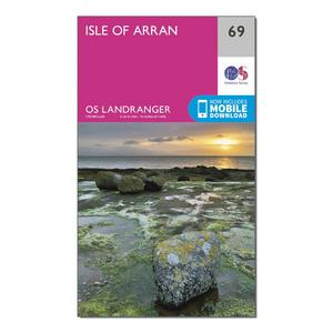 ORDNANCE SURVEY Landranger 69 Isle of Arran Map With Digital Version