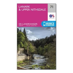 ORDNANCE SURVEY Landranger 71 Lanark & Upper Nithsdale Map With Digital Version