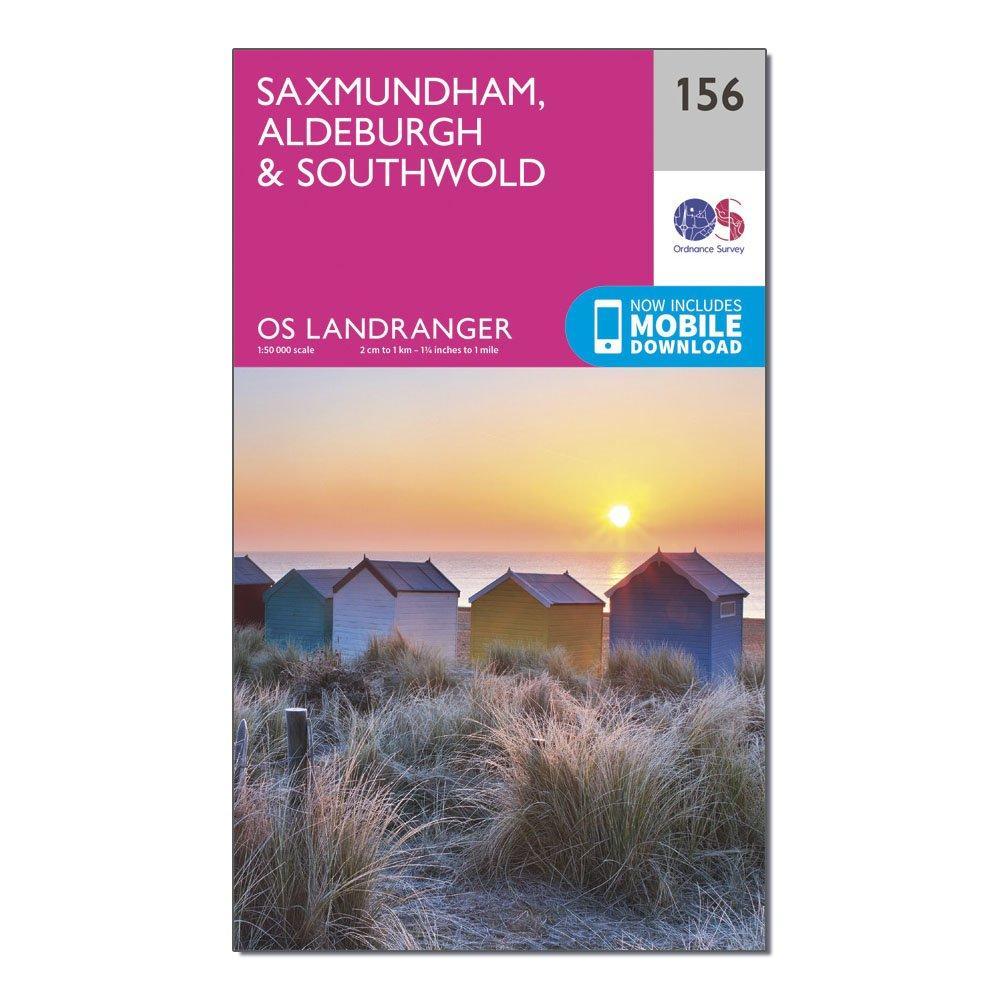 Ordnance Survey Landranger 156 Saxmundham  AldeburghandSouthwold Map With Digital Version - Pink/d  Pink/d