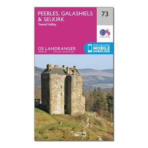 ORDNANCE SURVEY Landranger 73 Peebles, Galashiels & Selkirk, Tweed Valley Map With Digital Version