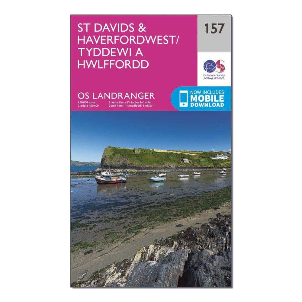 Ordnance Survey Landranger 157 St DavidsandHaverfordwest Map With Digital Version - Pink/d  Pink/d