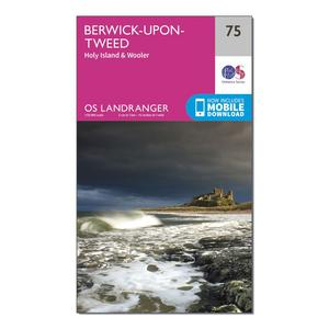 ORDNANCE SURVEY Landranger 75 Berwick-upon-Tweed Map With Digital Version