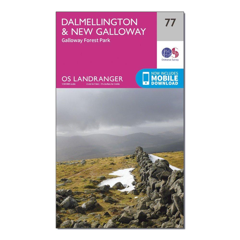Ordnance Survey Landranger 77 DalmellingtonandNew Galloway  Galloway Forest Park Map With Digital Version - Pink/d  Pink/d