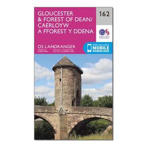 ORDNANCE SURVEY Landranger 162 Gloucester & Forest of Dean Map With Digital Version