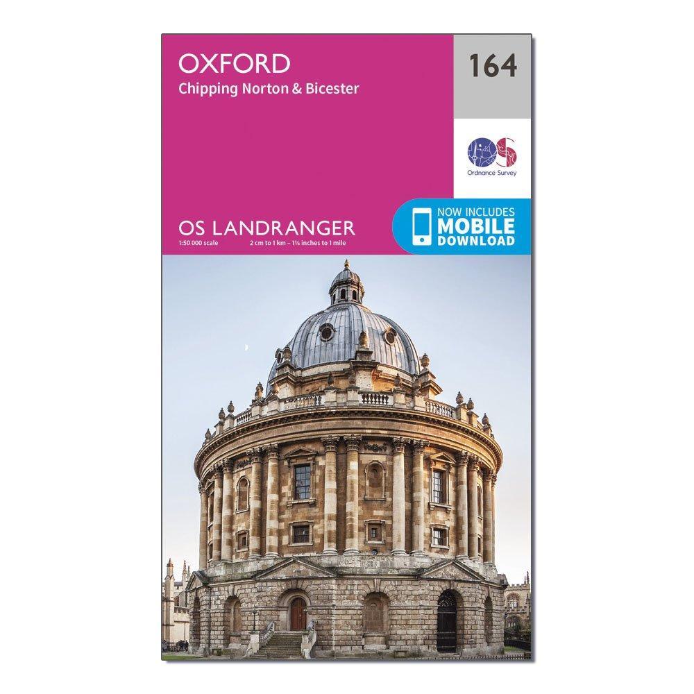 Ordnance Survey Landranger 164 Oxford  Chipping NortonandBicester Map With Digital Version - Pink/d  Pink/d