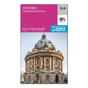 ORDNANCE SURVEY Landranger 164 Oxford, Chipping Norton & Bicester Map With Digital Version
