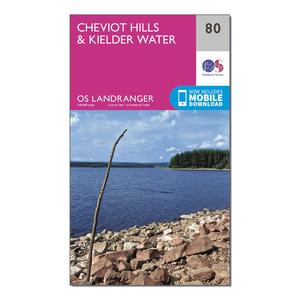 ORDNANCE SURVEY Landranger 80 Cheviot Hills & Kielder Water Map With Digital Version