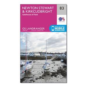 ORDNANCE SURVEY Landranger 83 Newton Stewart & Kirkcudbright, Gatehouse of Fleet Map With Digital Version