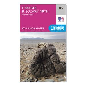 ORDNANCE SURVEY Landranger 85 Carlisle & Solway Firth, Gretna Green Map With Digital Version