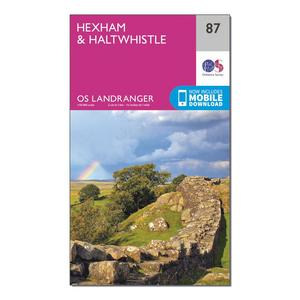 ORDNANCE SURVEY Landranger 87 Hexham & Haltwhistle Map With Digital Version