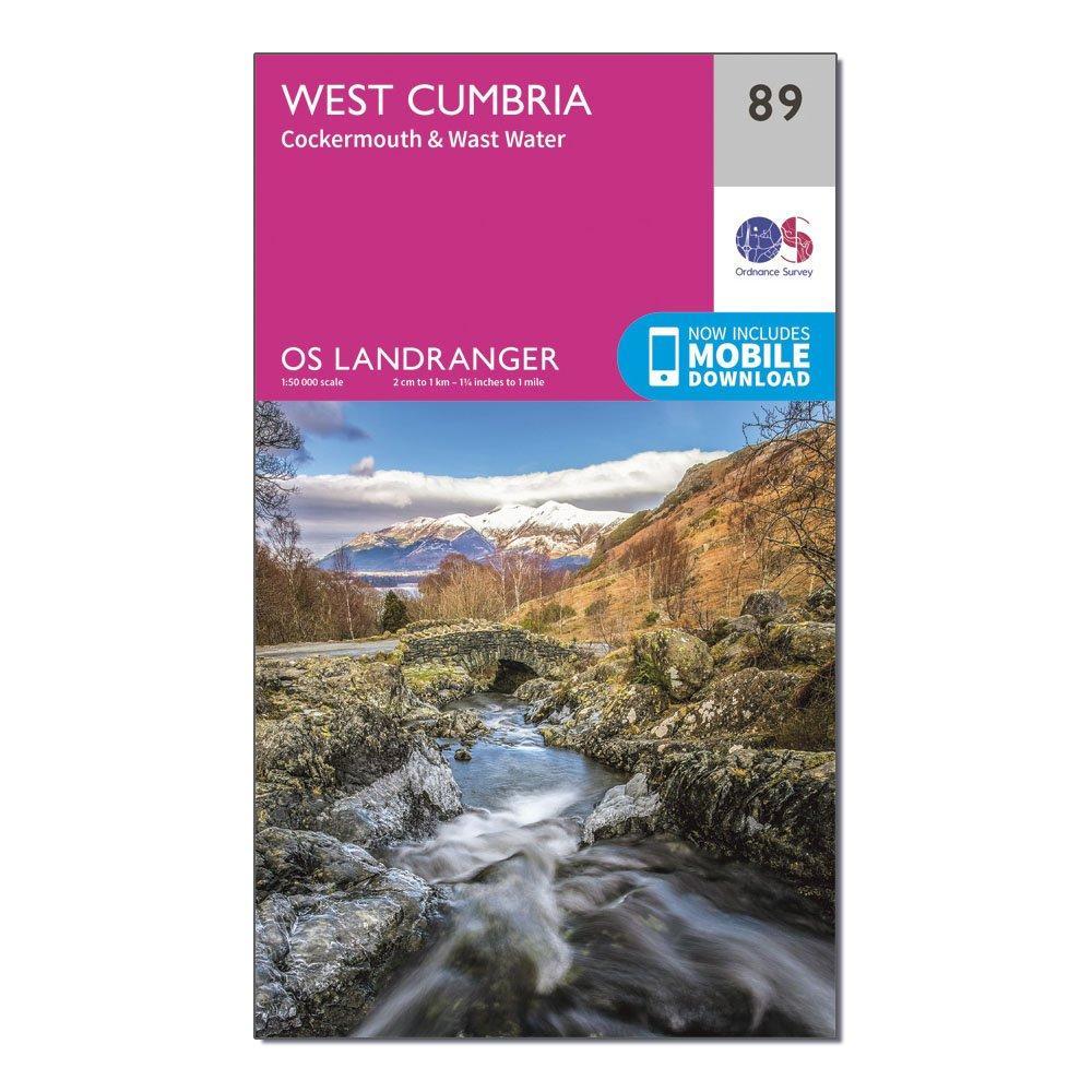Ordnance Survey Landranger 89 West Cumbria  CockermouthandWast Water Map With Digital Version - Pink/d  Pink/d