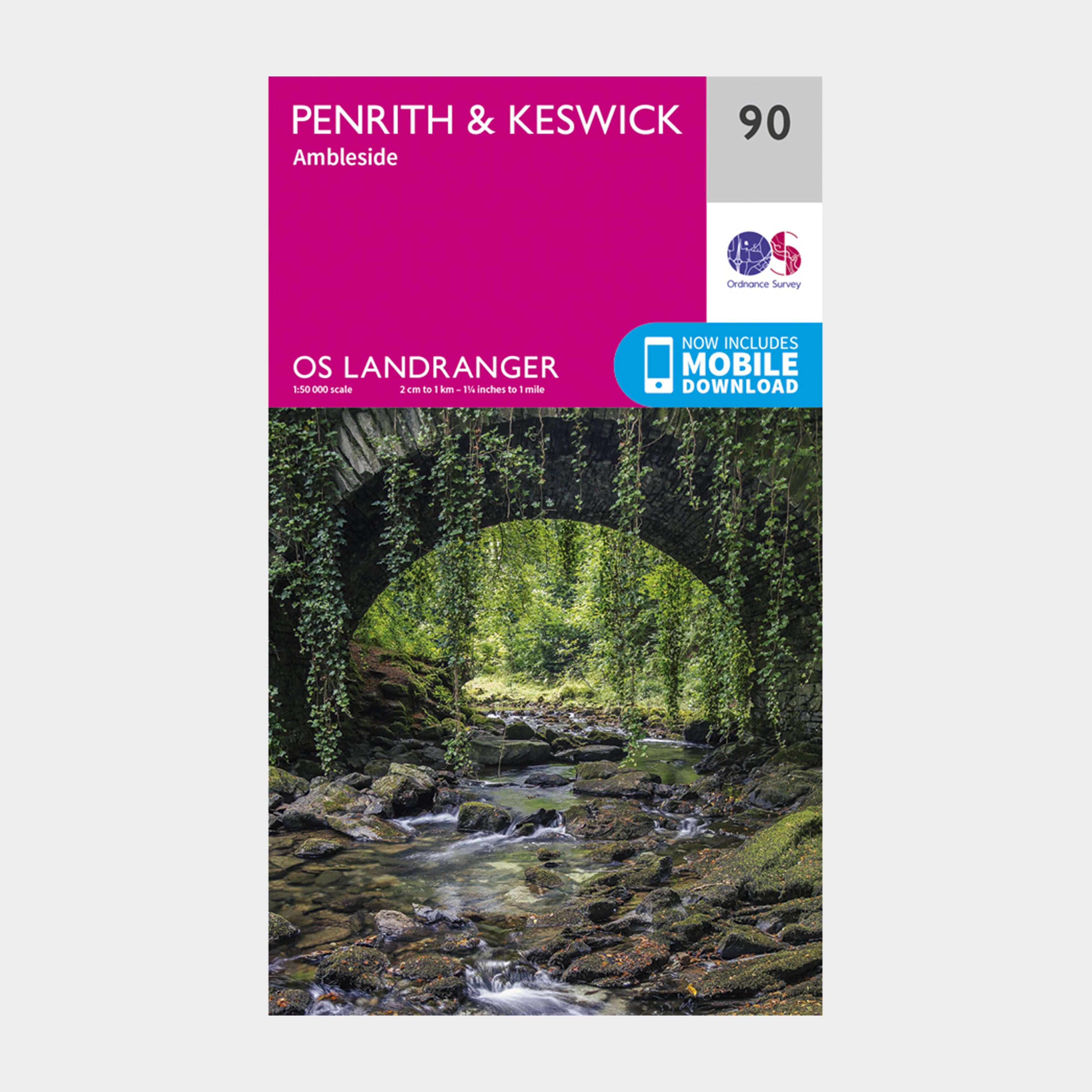 ORDNANCE SURVEY Landranger 90 Penrith & Keswick, Ambleside Map With Digital Version