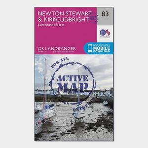 ORDNANCE SURVEY Landranger Active 83 Newton Stewart & Kirkcudbright, Gatehouse of Fleet Map With Digital Version