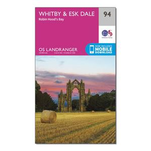 ORDNANCE SURVEY Landranger 94 Whitby, Esk Dale & Robin Hood's Bay Map With Digital Version