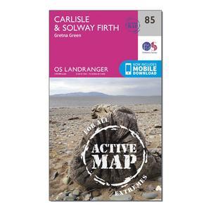 ORDNANCE SURVEY Landranger Active 85 Carlisle & Solway Firth, Gretna Green Map With Digital Version