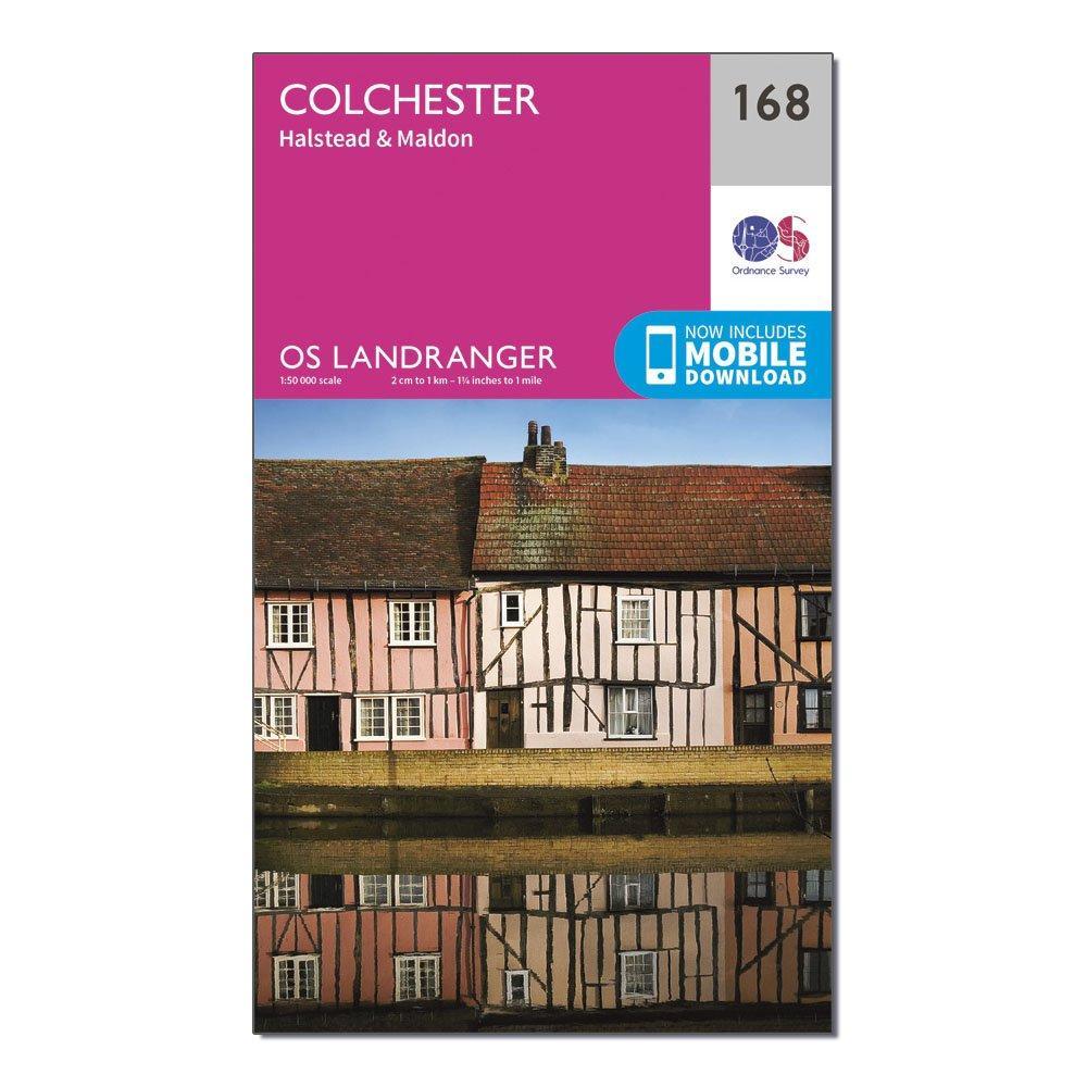 Ordnance Survey Landranger 168 Colchester  HalsteadandMaldon Map With Digital Version - Pink/d  Pink/d
