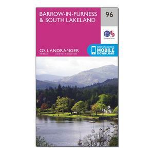 ORDNANCE SURVEY Landranger 96 Barrow-in-Furness & South Lakeland Map With Digital Version