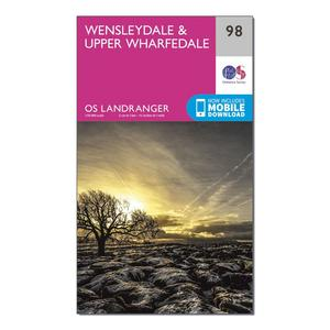ORDNANCE SURVEY Landranger 98 Wensleydale & Upper Wharfedale Map With Digital Version
