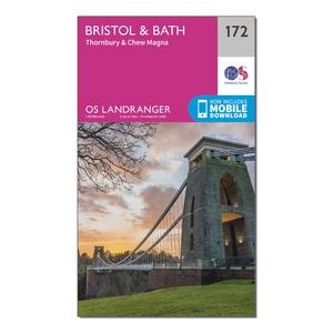 ORDNANCE SURVEY Landranger 172 Bristol & Bath, Thornbury & Chew Magna Map With Digital Version