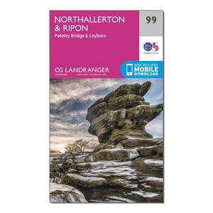 ORDNANCE SURVEY Landranger 99 Northallerton & Ripon, Pateley Bridge & Leyburn Map With Digital Version
