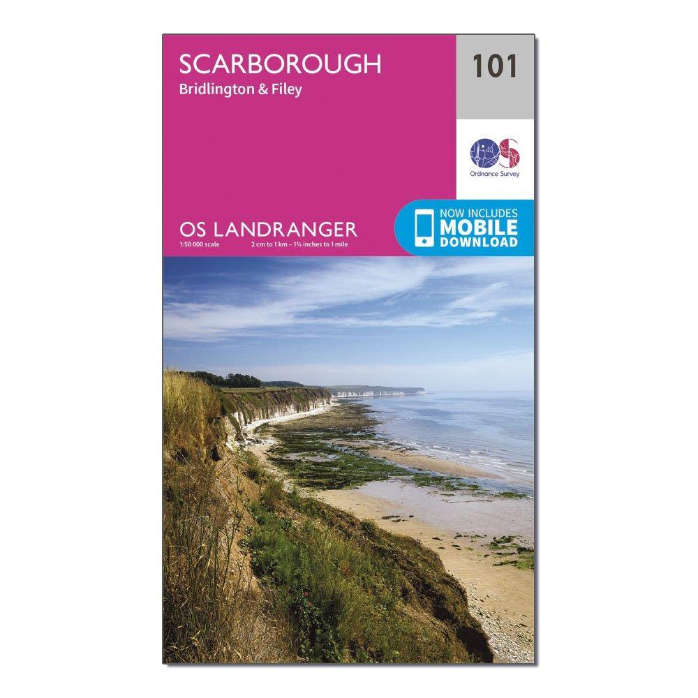 Ordnance Survey Landranger 101 Scarborough  BridlingtonandFiley Map With Digital Version - Pink/d  Pink/d