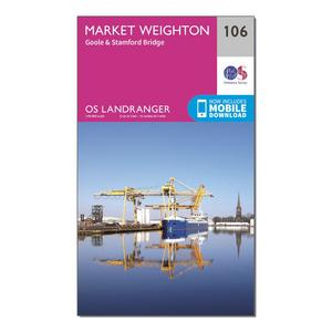 ORDNANCE SURVEY Landranger 106 Market Weighton, Goole & Stamford Bridge Map With Digital Version