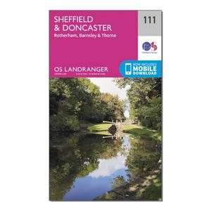 ORDNANCE SURVEY Landranger 111 Sheffield & Doncaster, Rotherham, Barnsley & Thorne Map With Digital Version